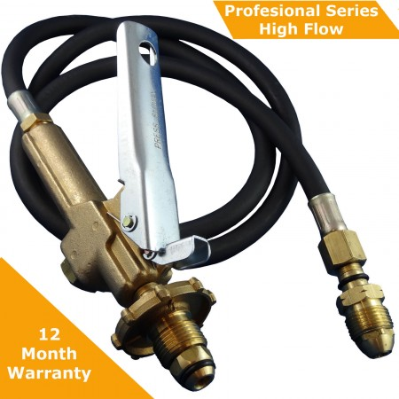 LPG Filler Gun & Hose To Suit BBQ POL Fittings,