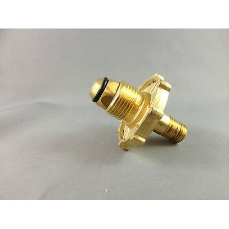 "Brass SCG Male POL/BBQ adapter to 1/4"" Male NPT"
